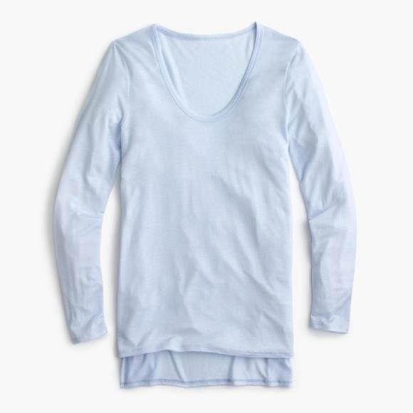 J. Crew Tops - NWT J. Crew Drapey scoopneck long-sleeve T-shirt